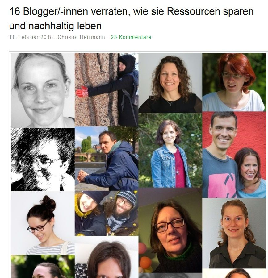 16 BloggerInnen